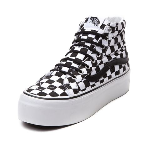 c212997c68a Shop for Vans Sk8 Hi Platform Skate Shoe in Black White Chex at Journeys  Shoes.