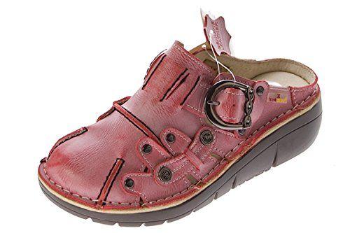 Damen Leder Clogs TMA Schuhe Gelb Used Look Slipper echt Leder Comfort Sandalen Gr. 38 JgiPUs