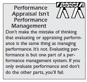Get It In Your Head Performance Appraisal Is Not The Same As