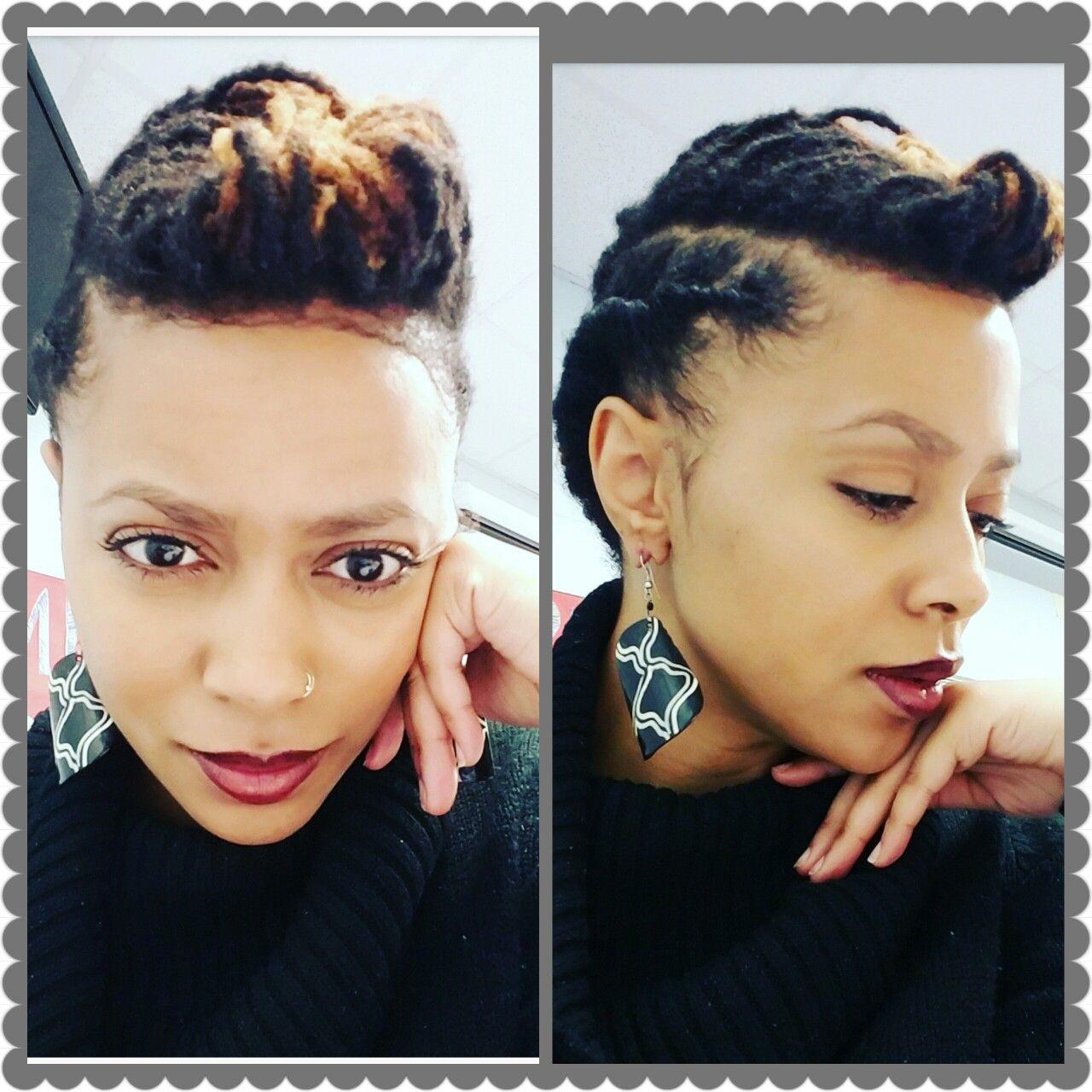Quick Loc Updo For Short To Medium Length Locs Professionallocs Rose Monique Locs Hairstyles Short Locs Hairstyles Natural Hair Styles