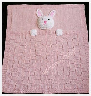 Hamaratablam: Tavşan Kardeş Bebek Battaniyesi #blanketsweater