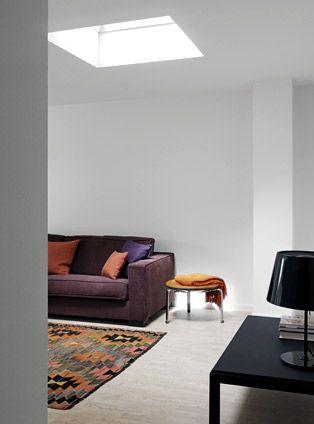 Wohnzimmer mit VELUX Flachdach-Fenster Wohnzimmer Pinterest - das moderne wohnzimmer mit tageslicht