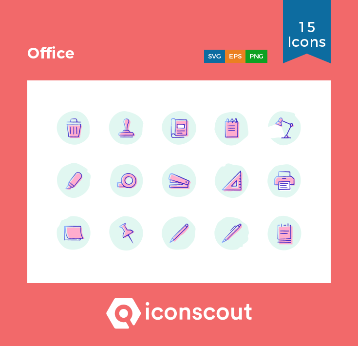 Download Office One Icon Pack - 15 Rounded Icons in 2019 | Office ...