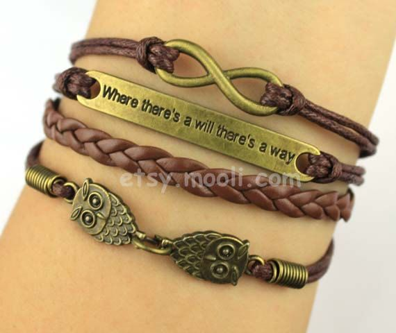 Antique Bronze Infinity Bracelet infinity wish bracelet by mooli, $3.99