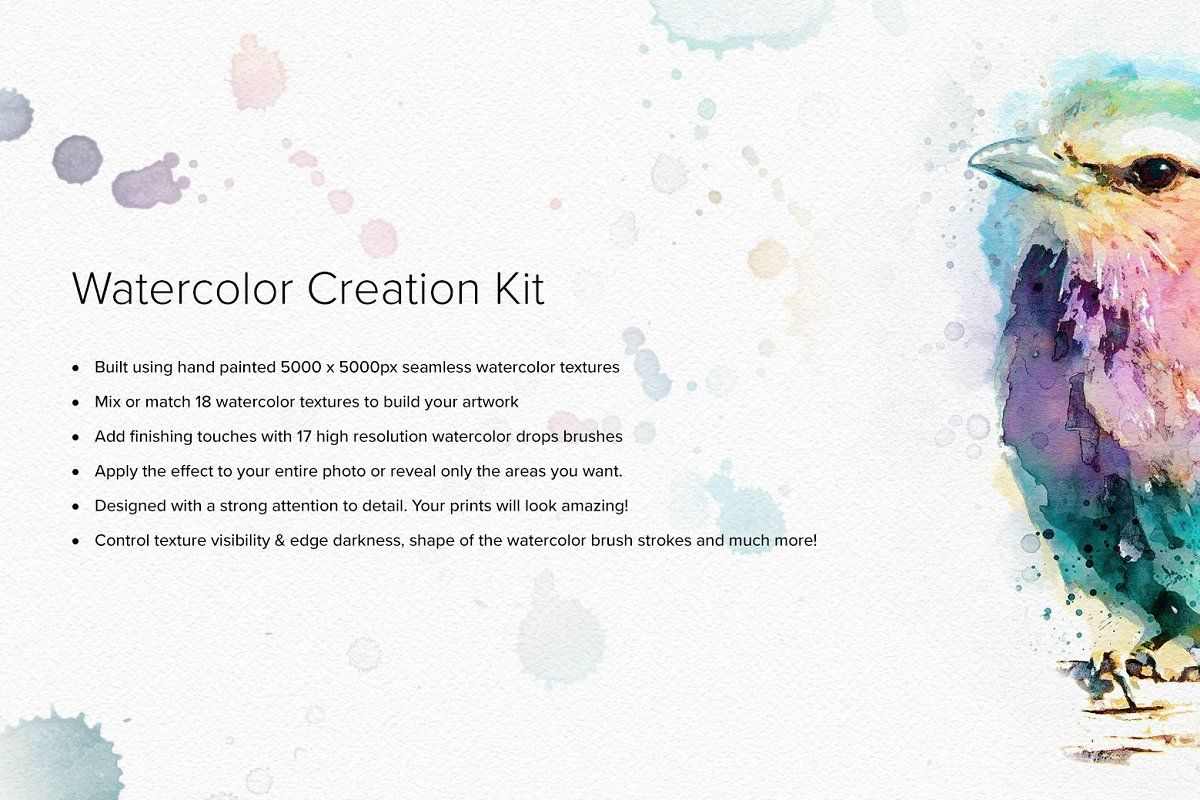 Ad Watercolor Creation Kit By Sevenstyles On Creativemarket