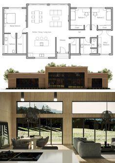 floor plan small houses in 2019 haus pl ne haus architektur haus bauen. Black Bedroom Furniture Sets. Home Design Ideas