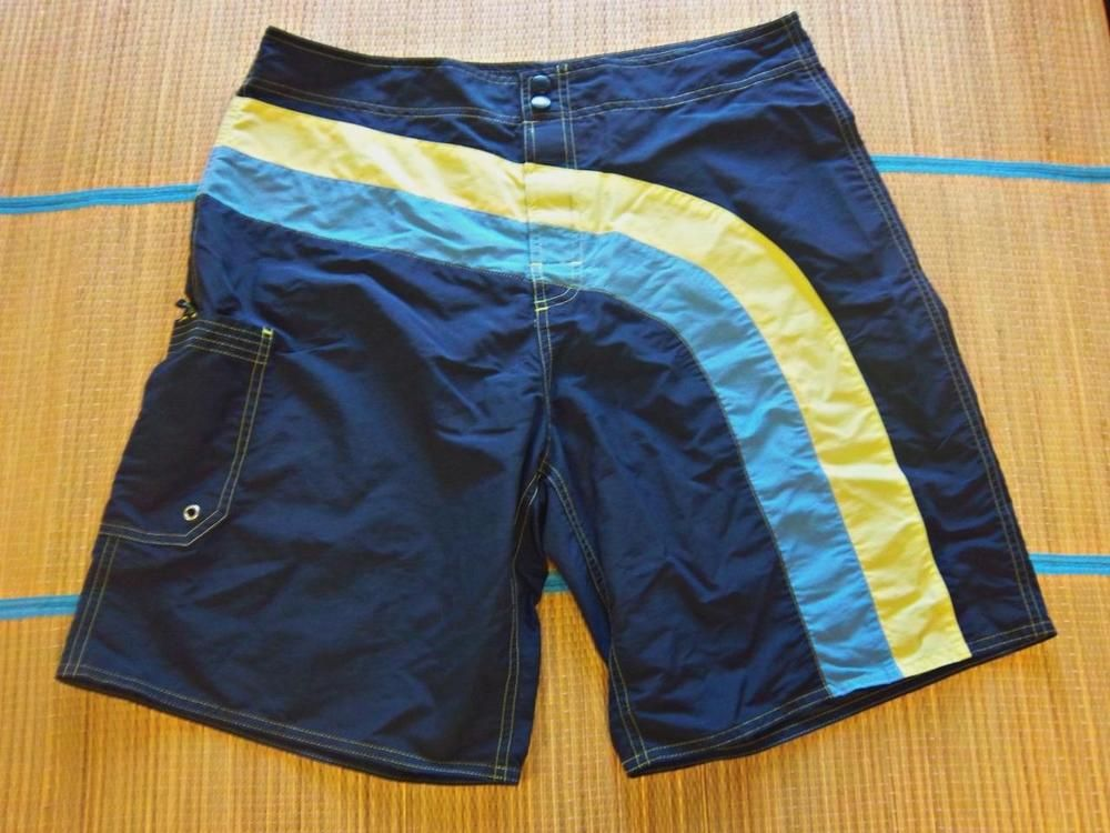 34a3911252 OLD NAVY Men's LARGE(34) NYLON BOARD SHORTS SWIM TRUNKS - Blue Navy Green  #OldNavy #BoardShorts
