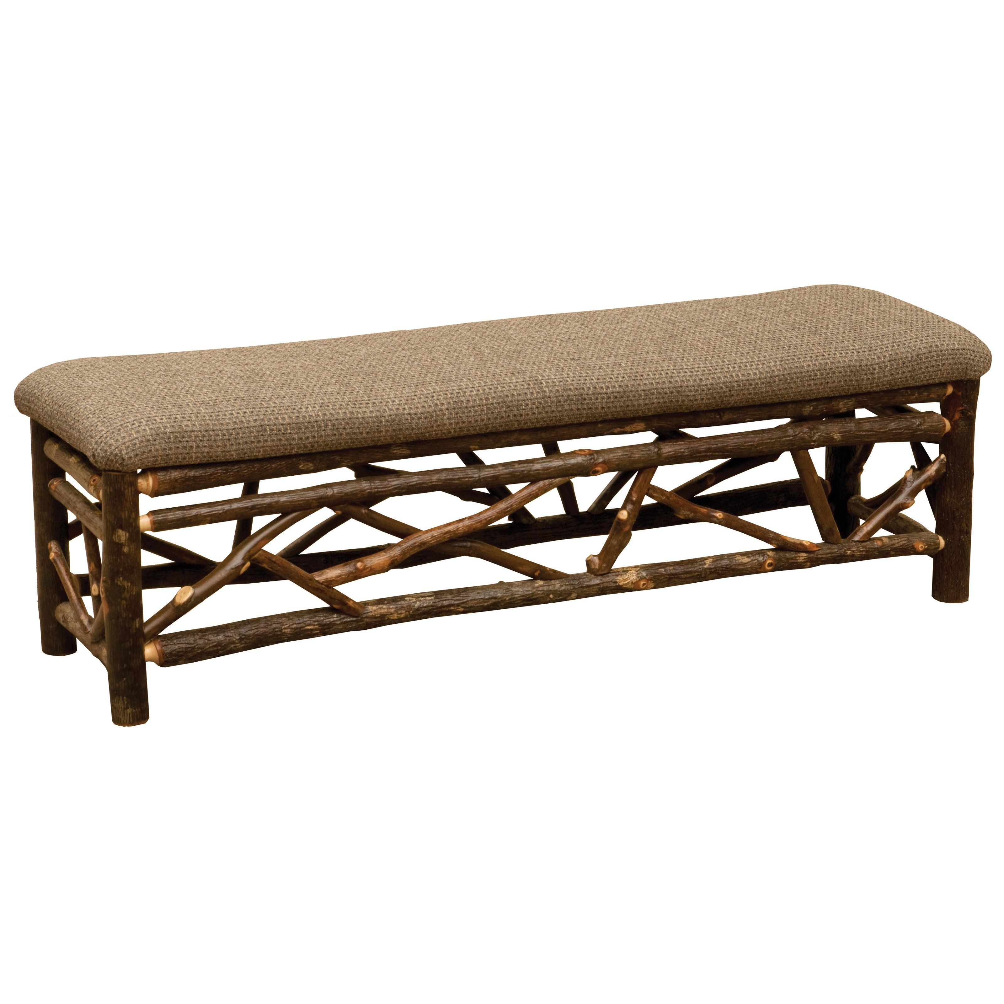 Outdoor Fireside Lodge Furniture Hickory Twig Upholstered