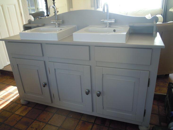 Badkamermeubel Met Deurtjes : Brocante badkamermeubel met oude deurtjes badkamer