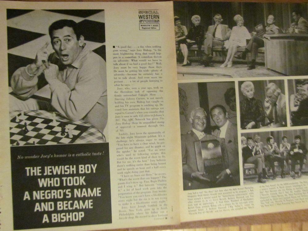 Joey Bishop, Great Vintage Clipping