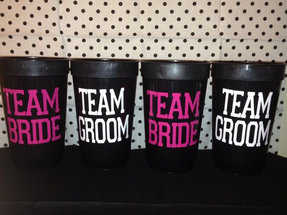 Team Bride / Team Groom Bridal Party Wedding Cups On Etsy