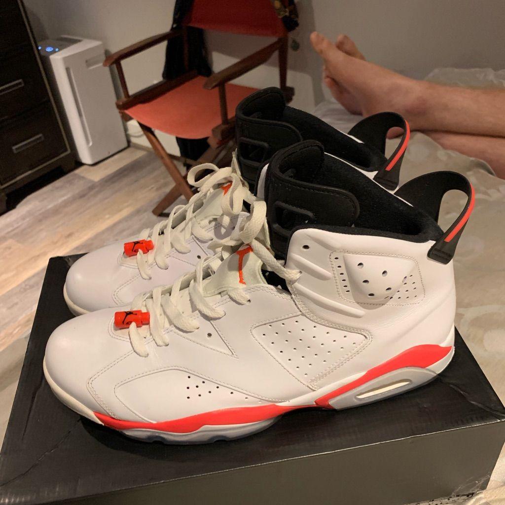 Jordan 6 White Infrared size 14