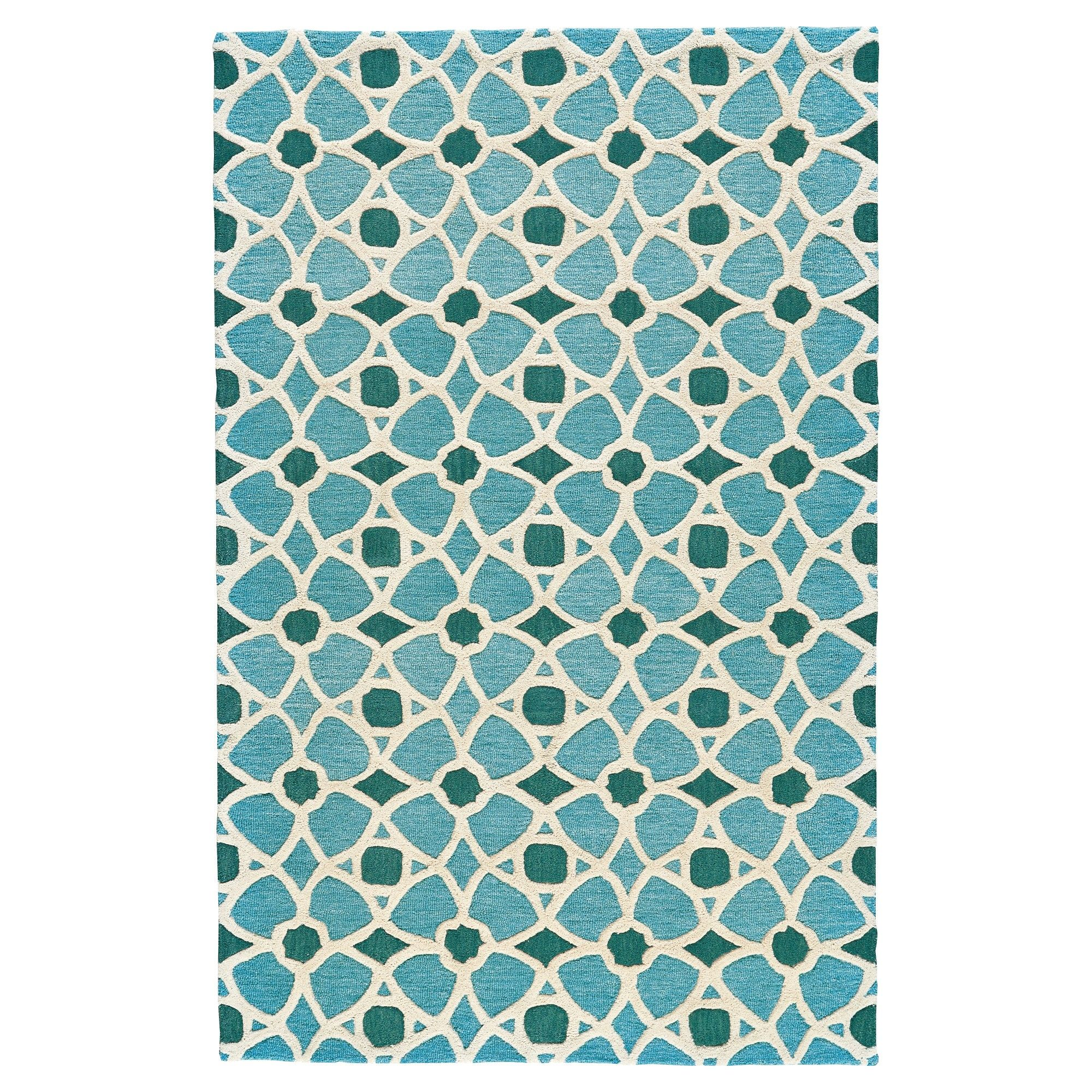 Lagoon Geometric Tufted Area Rug 8 X11 Room Envy Green