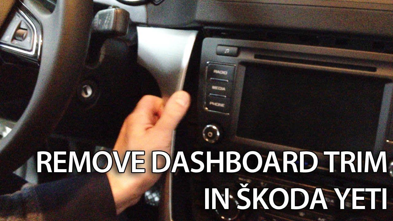 how to remove dashboard trim in skoda yeti interior disassemble tuning  [ 1280 x 720 Pixel ]