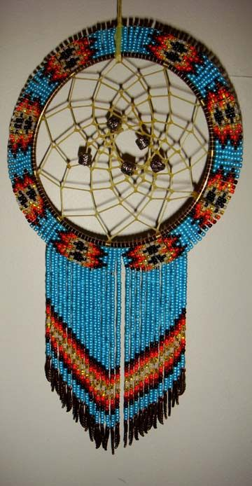 Beaded Dream Catchers Patterns bead dream catcher Bead work Indian patterns Pinterest 8