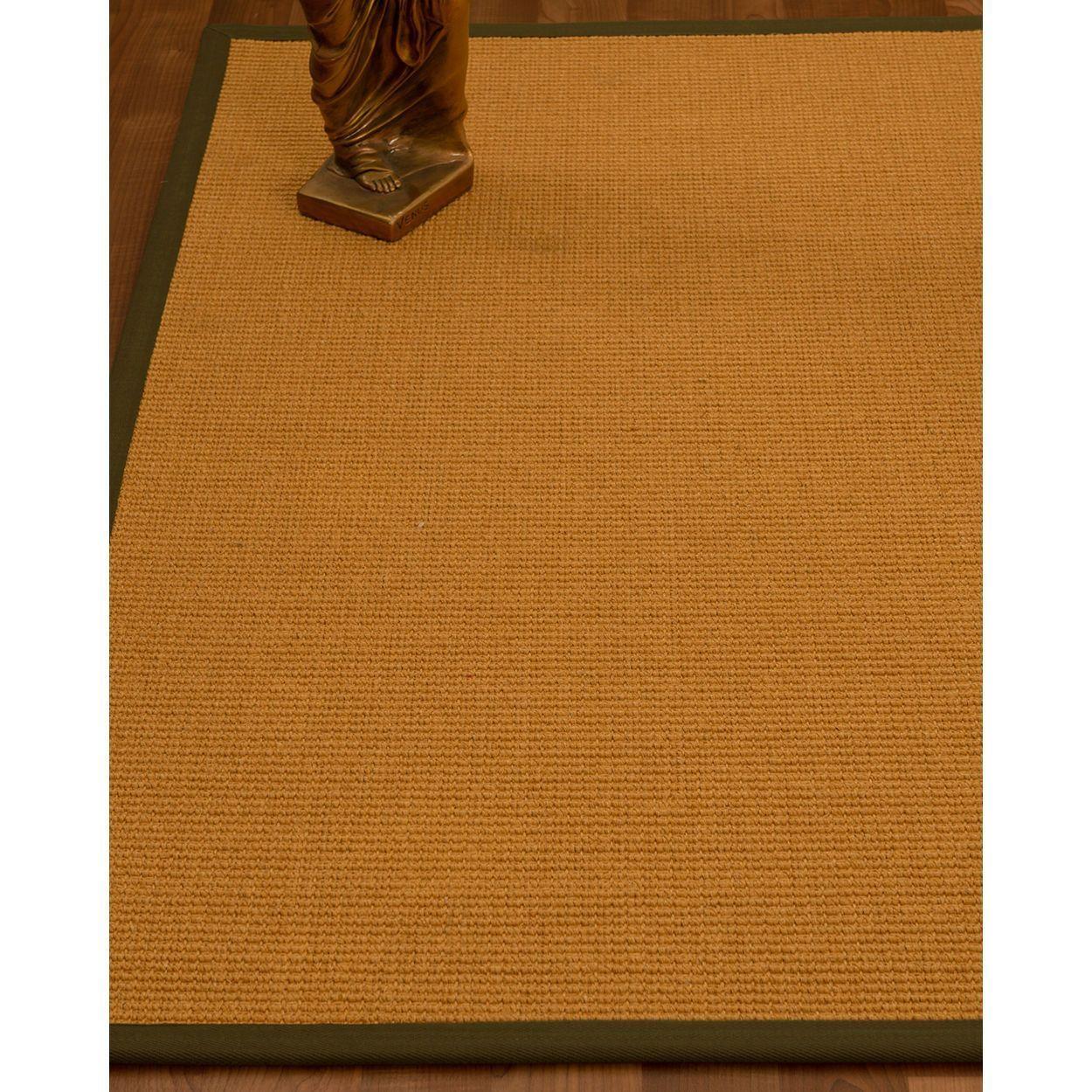 Handcrafted Davlin Natural Sisal Rug Fudge Binding 5' X 8