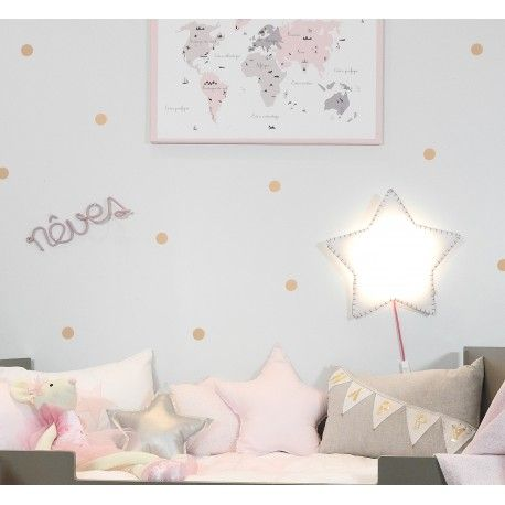 sticker pois chambre fille girl room star toile. Black Bedroom Furniture Sets. Home Design Ideas