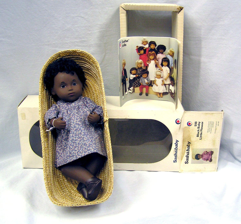 1980's England Sasha LITTLE FLOWER 518 Black Baby Doll