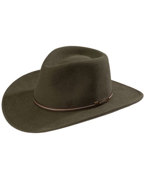 57df60630ca Stetson Gallatin Sage Green Crushable Wool Hat
