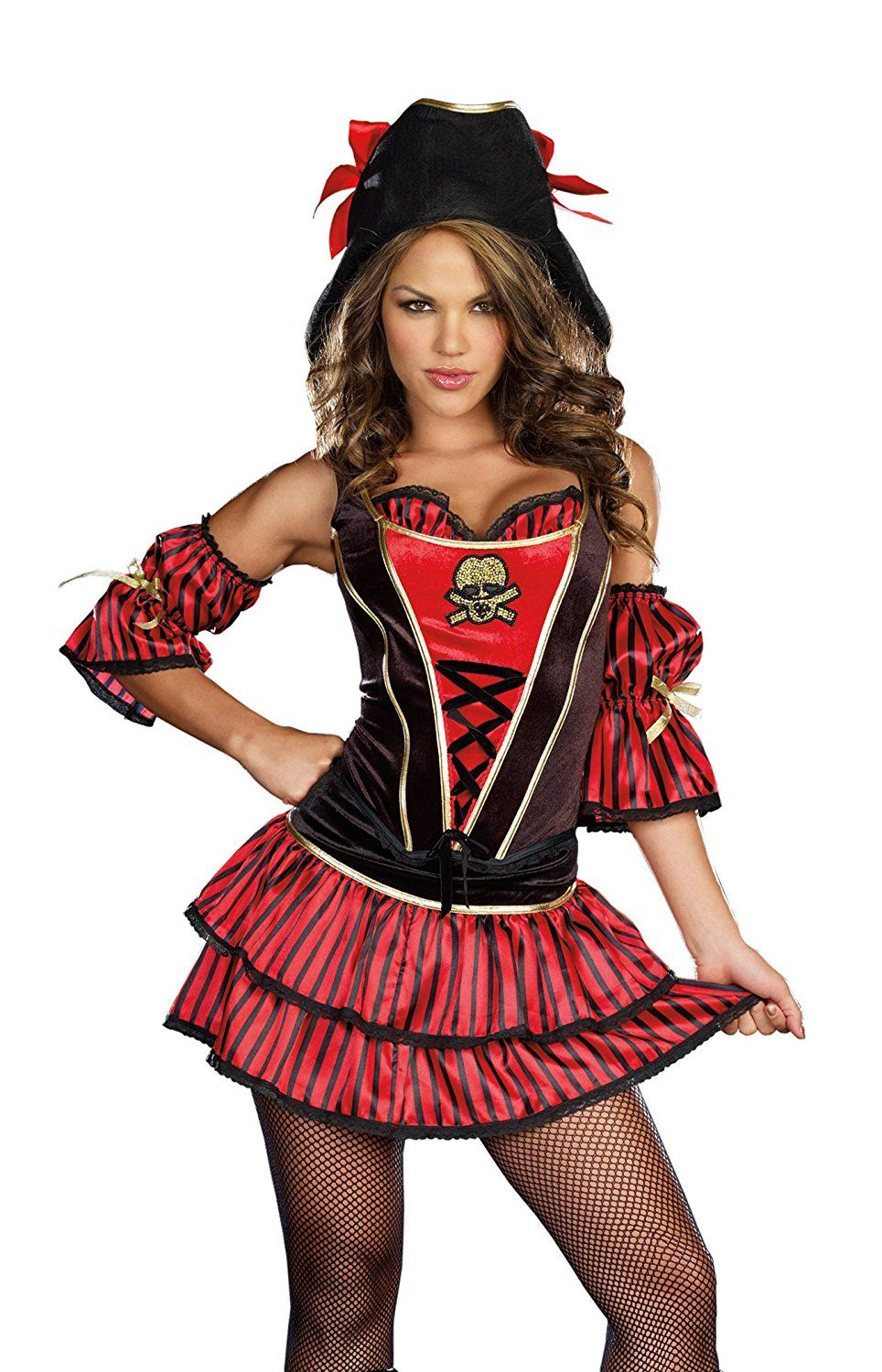 Dreamgirl womens Western corset skirt costume set