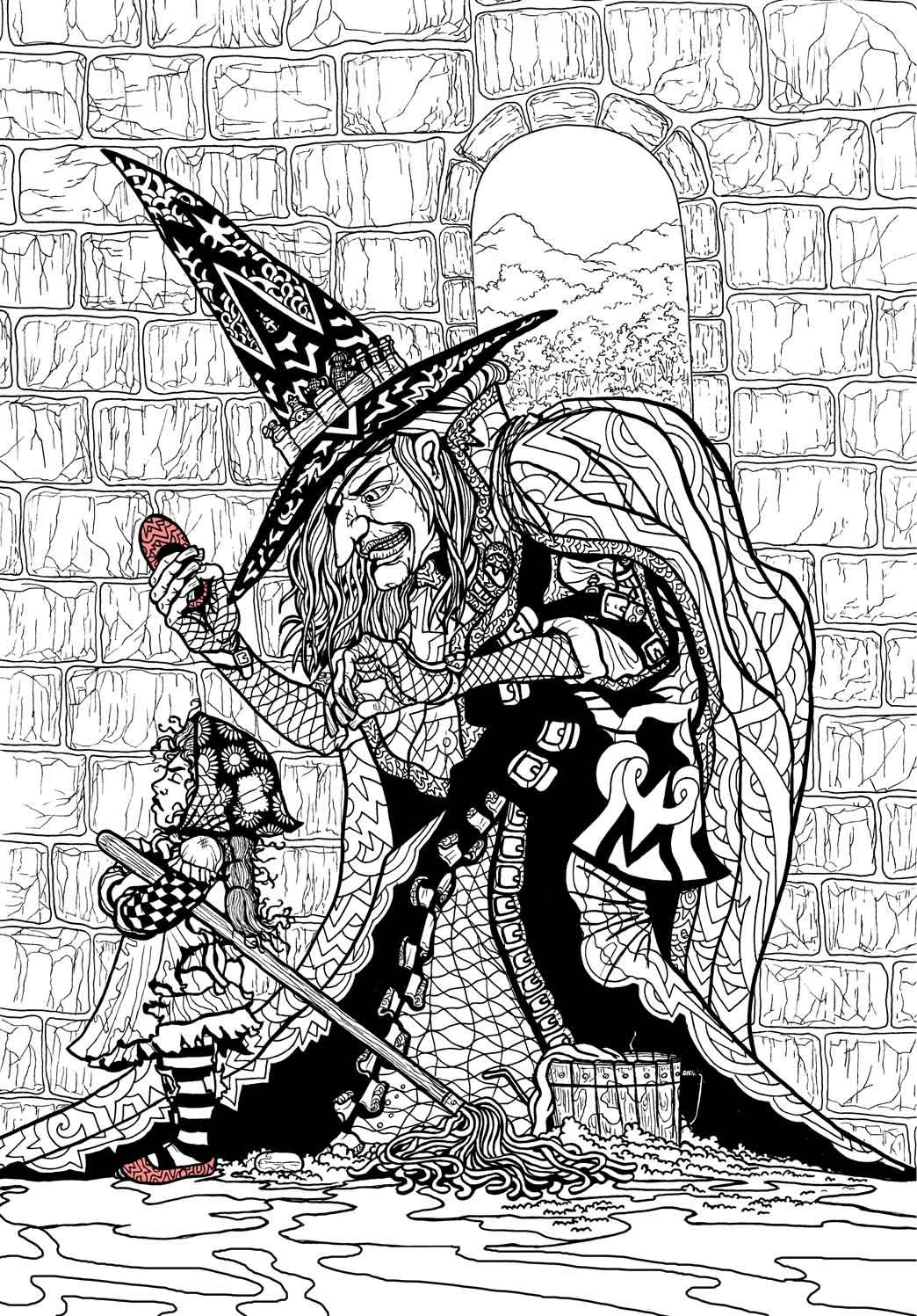 Wizard Of Oz Coloring Book Wizard Of Oz Color Coloring Pages