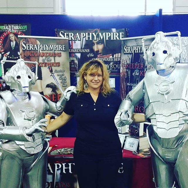 #Booksigning my #Seraphympire #novels @ the #Brisbane #Supanova2016 this year. I was really impressed by the many #Cosplayers dressed in their #Cosplay #costumes. I just had to take photos of all my favorites. #DrWho #cyberman.