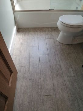 Rectangular bathroom floor tile Houzz bathroom remodel