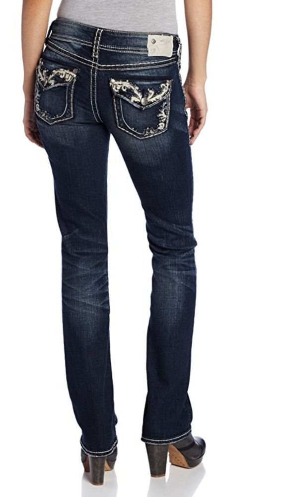 SILVER JEANS SALE Embellished Mid Suki Flap 17
