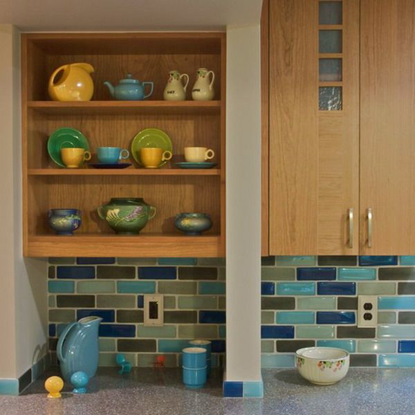 Kitchen Backsplash Mid Century Modern: Multicolor-tile-backsplash-kitchen-tour7-1 (600x600, 241Kb