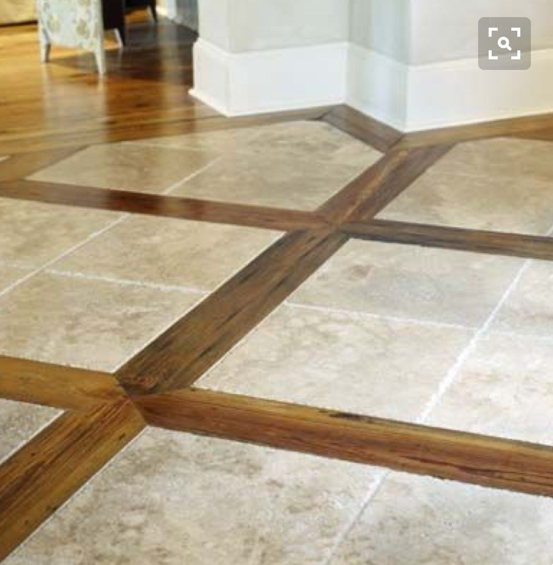 Pin by leslee meyers ortega on mikes entry floor pinterest tile and wood combinationce way to tie in hardwoods with tile in the wet areas dailygadgetfo Choice Image