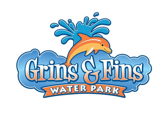 grins and fins water park logo designed by mcquillen creative group rh pinterest com water park logo generator water park logo generator