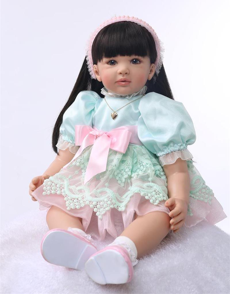 """Beautiful Reborn Toddlers Dolls Princess Girl Real Life Silicone Cuddle Baby 24/"""""""