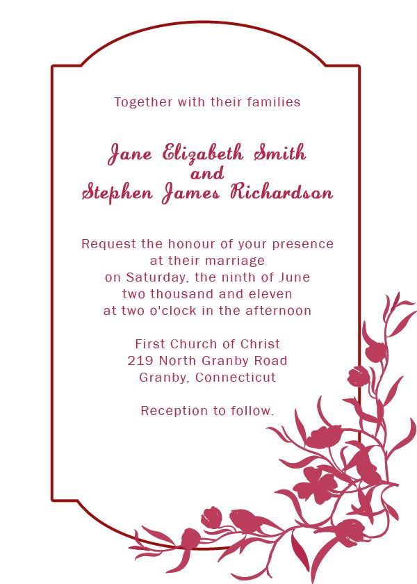Silver Floral Border Invitation Fav And Its A Free Template