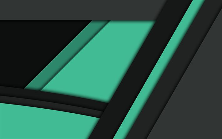 Download Wallpapers Material Design Green And Black Lines Dark Background Creative Besthqwallpapers Com Design De Materiais Plano De Fundo De Glitter Criatividade