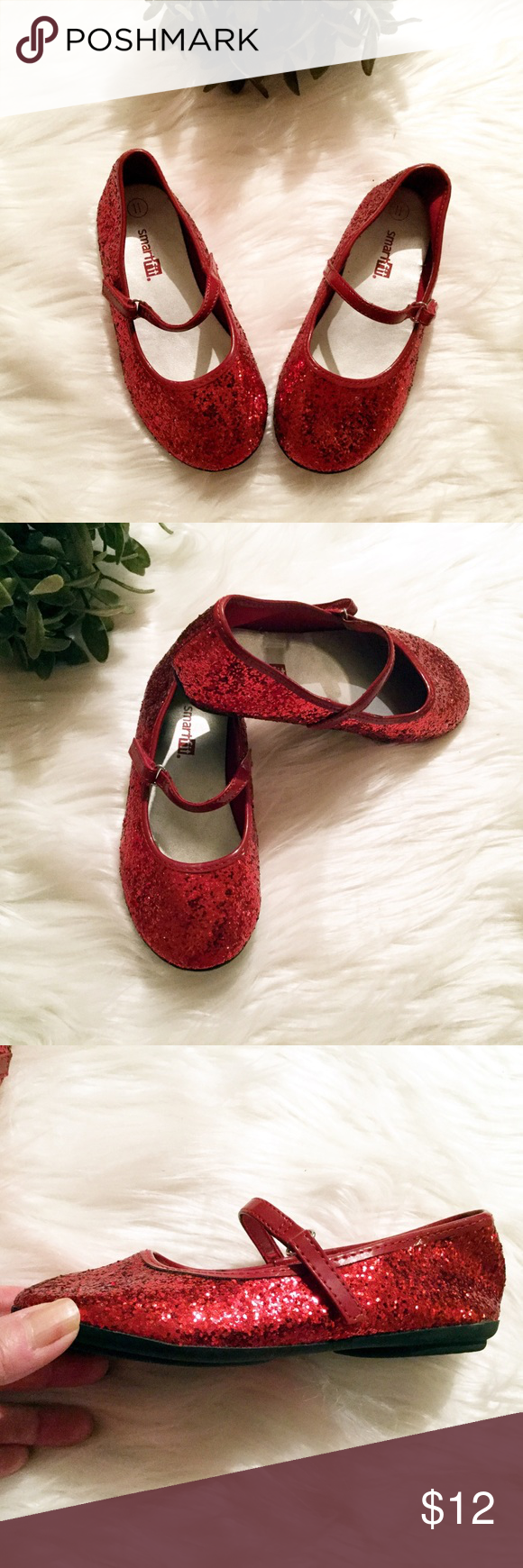 ... Shoes Girls Toddler Ruby 🍃🍃🍃🍃 Ruby red glitter Mary-Jane shoes.  Made by Smart Fit with non slip soles. So cute for Valentines Day f744f5ce7