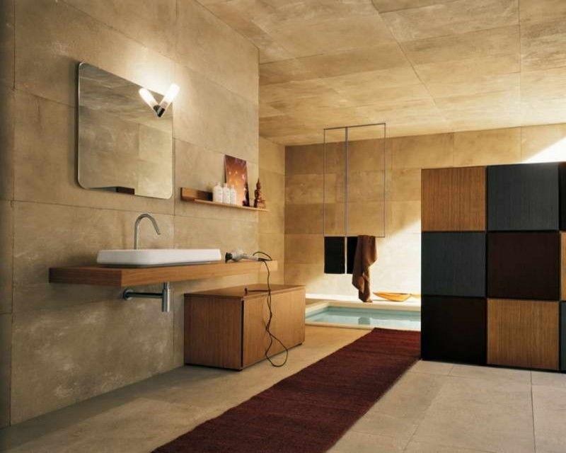 Carrelage pour salle de bains u2013 jeu de couleurs et formes - Stratifie Mural Salle De Bain