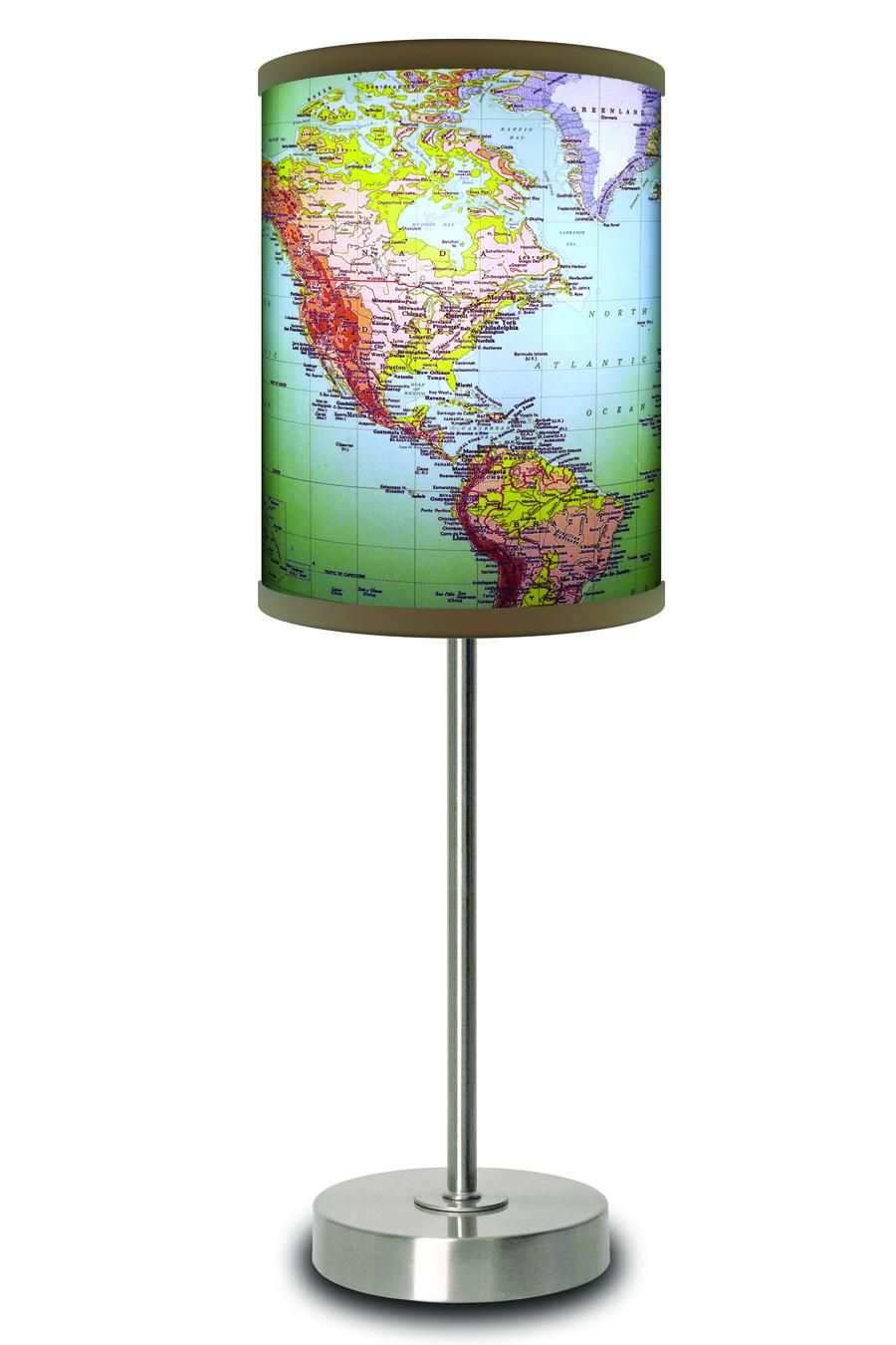 1970s world map lamp dorm room love pinterest globe map 1970s world map lamp gumiabroncs Images