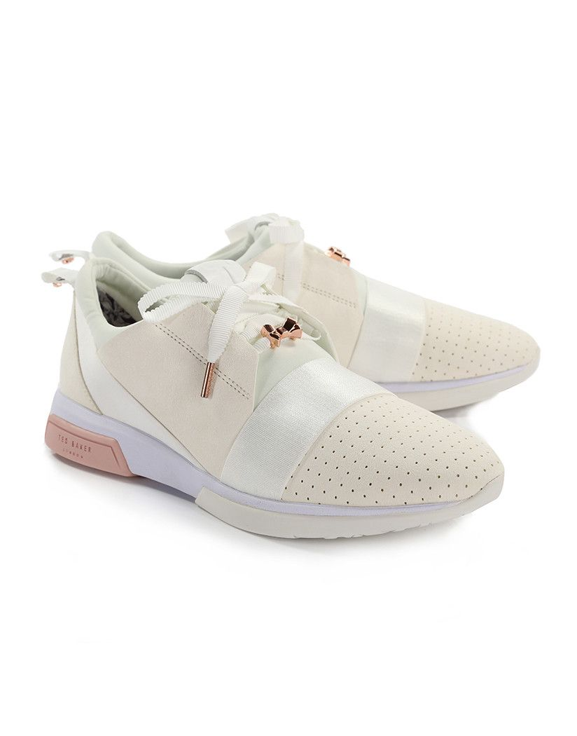 authorized site united kingdom half price TED BAKER WOMEN'S CEPAS TRAINERS - WHITE/ROSE GOLD | Ted baker ...