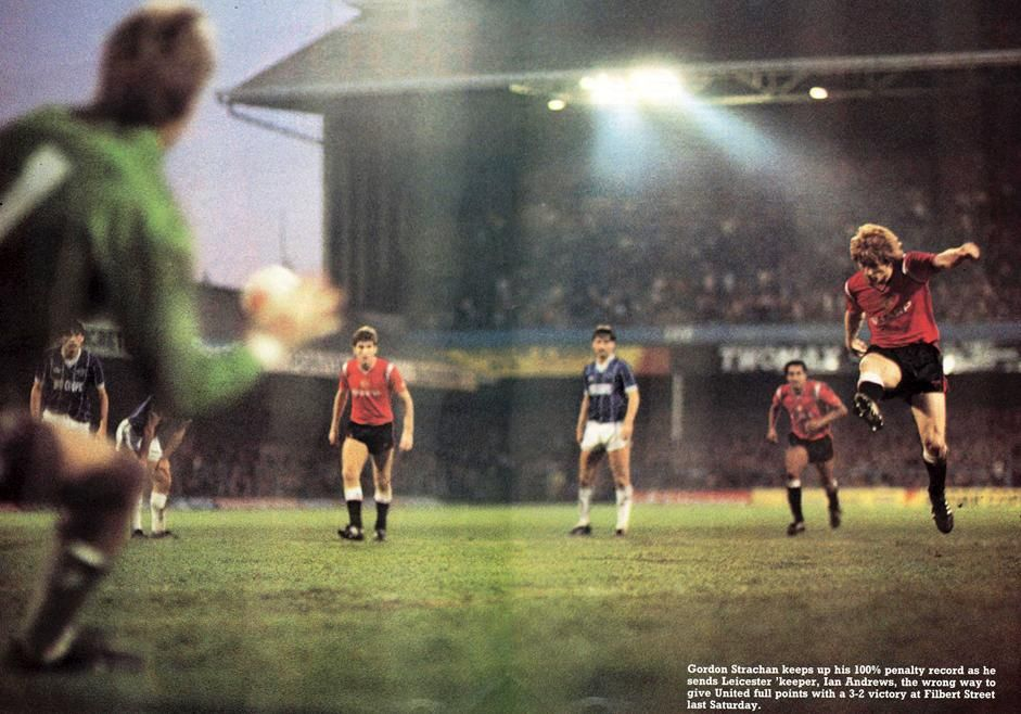 Leicester City 2 Manchester United 3 (Strachan, Brazil, Hughes) 10 November 1984 #MUFC
