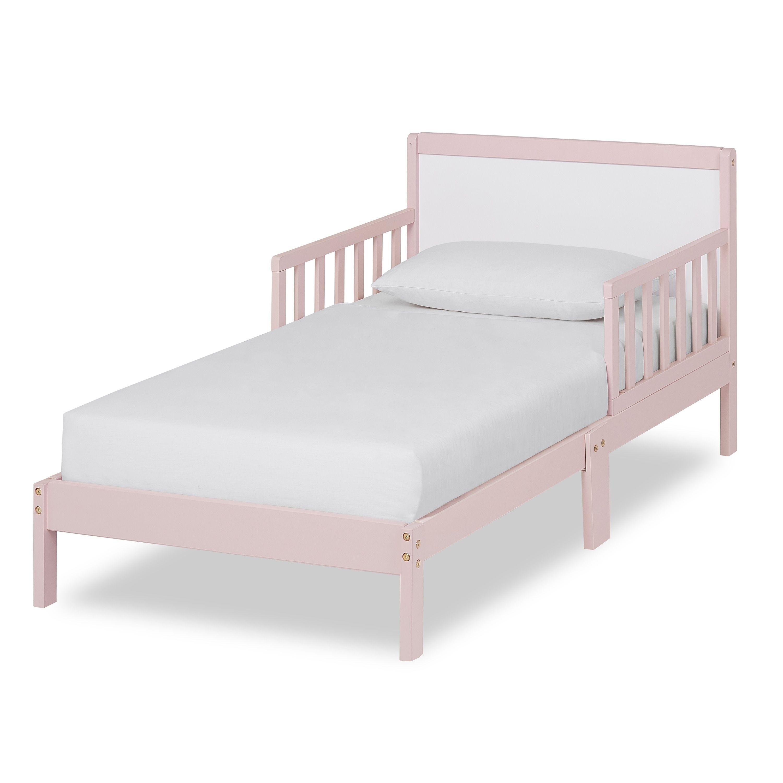 Dream On Me Brookside Toddler Bed Kids Unisex Blush Pink White Toddler Bed Frame Toddler Bed Toddler Platform Bed