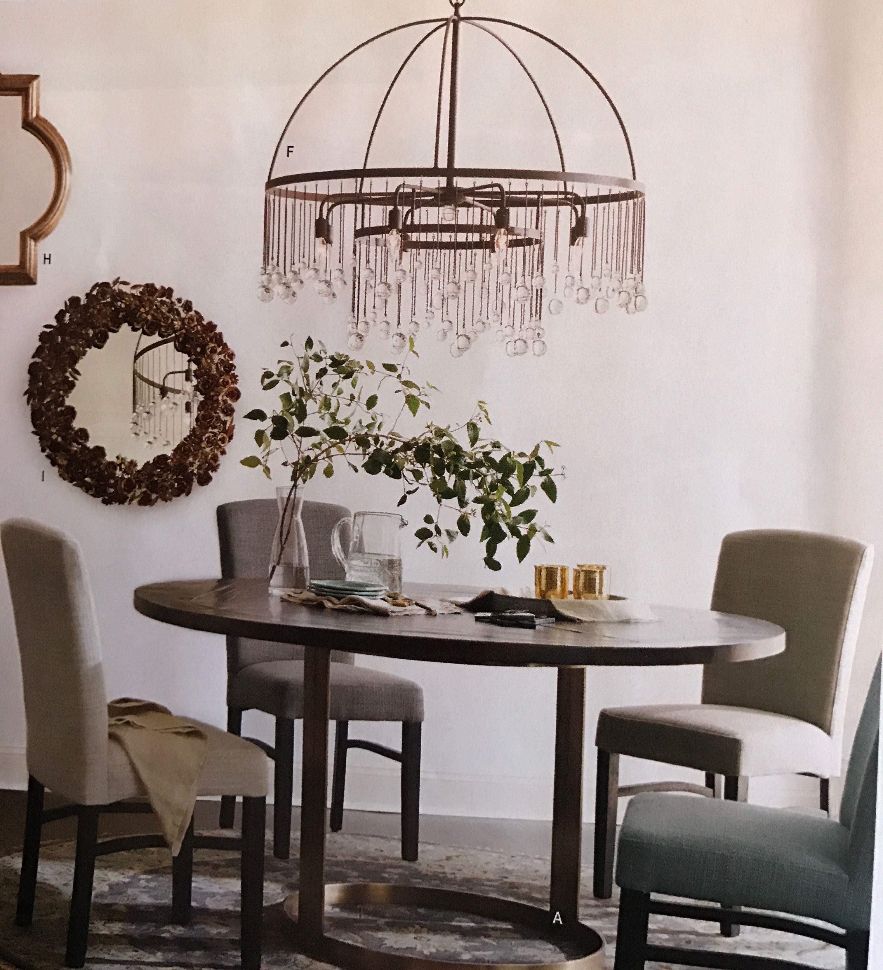 From Arhaus Aubrey eight light chandelier 36 inches in diameter