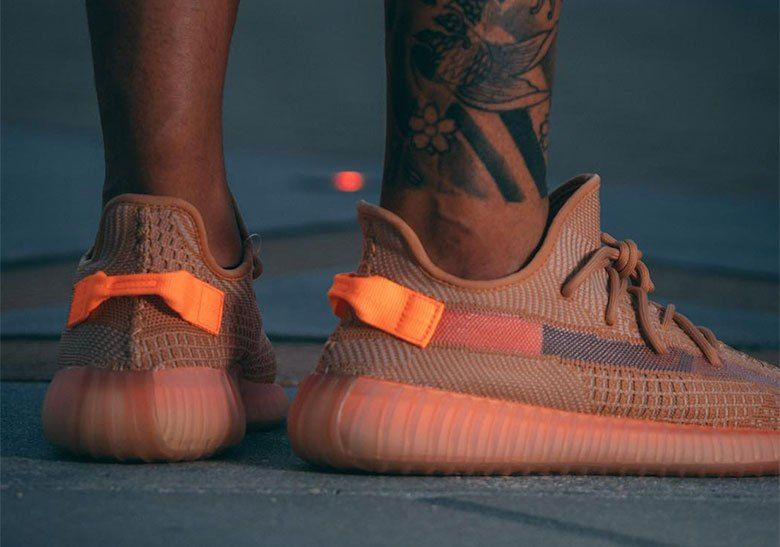Adidas Yeezy Boost 350 V2 Shoes Grå Orange 1826 | Sko