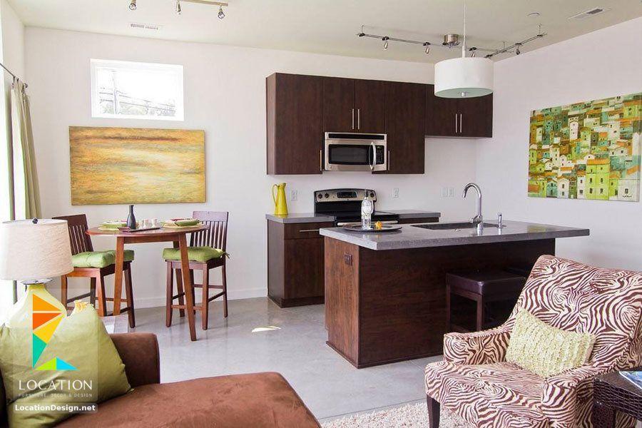 كولكشن مطابخ مفتوحه على الصاله للشقق الحديثة لوكشين ديزين نت Open Plan Kitchen Living Room Open Kitchen And Living Room Kitchen Design Small