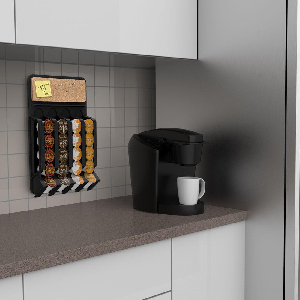 Mind Reader Mounty 20 Capacity Wall Mounted Black K Cup Dispenser Wmnt Blk Coffee Pod Dispenser Pod Dispenser Coffee Dispenser