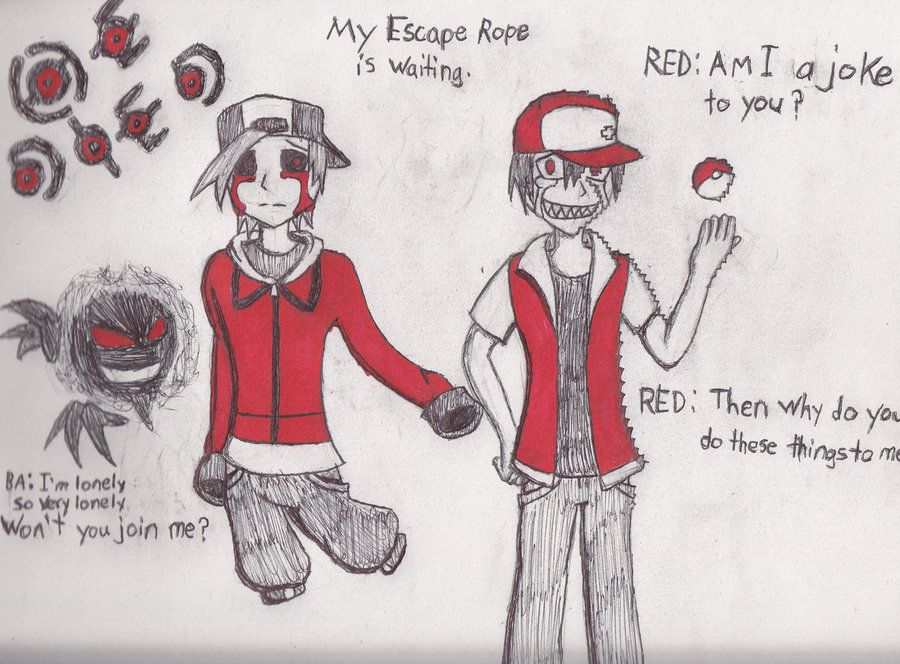 Pokemon creepypastas: Lost Silver, Glitchy Red, Axe, Candle, Rope, and Buried Alive Model
