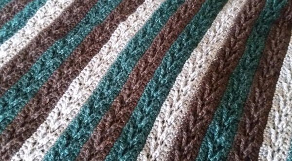 Arrow Stitch Crochet Afghan #afghanpatterns