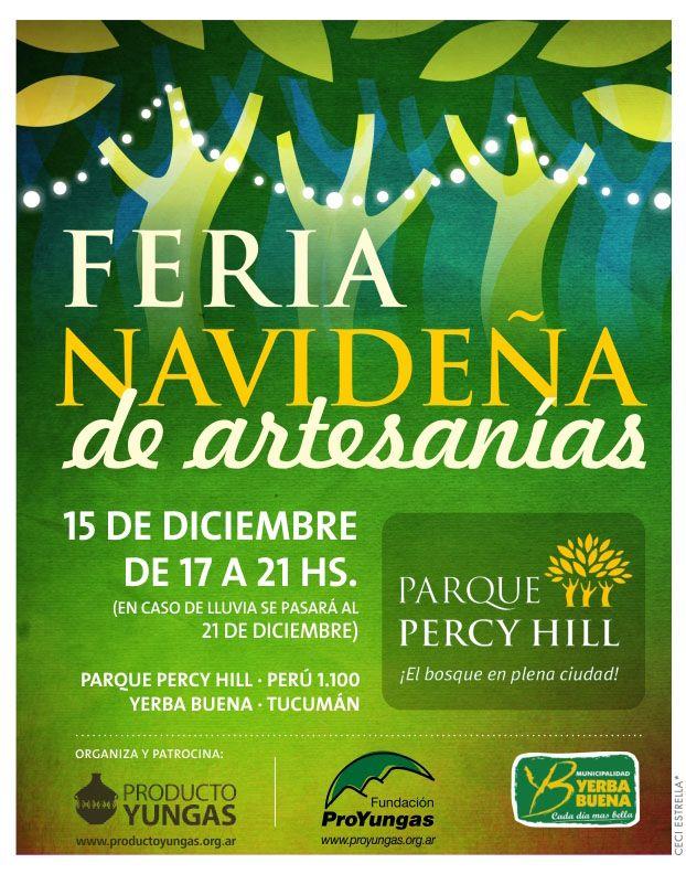 Poster Feria Navideña en el Parque Percy Hill