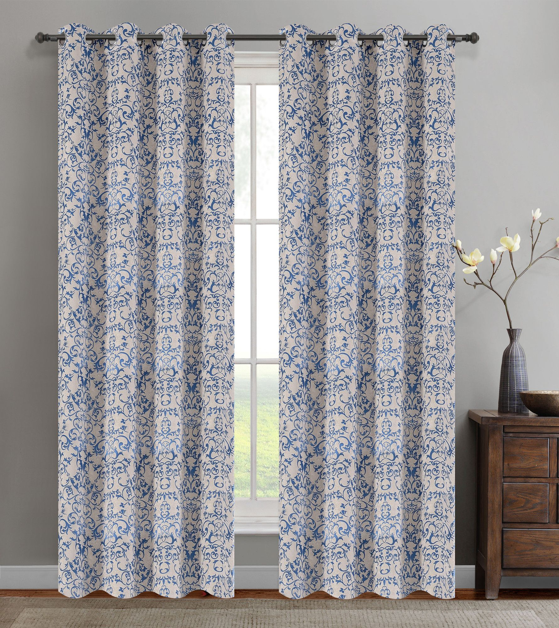 Brockham Room Darkening Thermal Grommet Curtain Panels