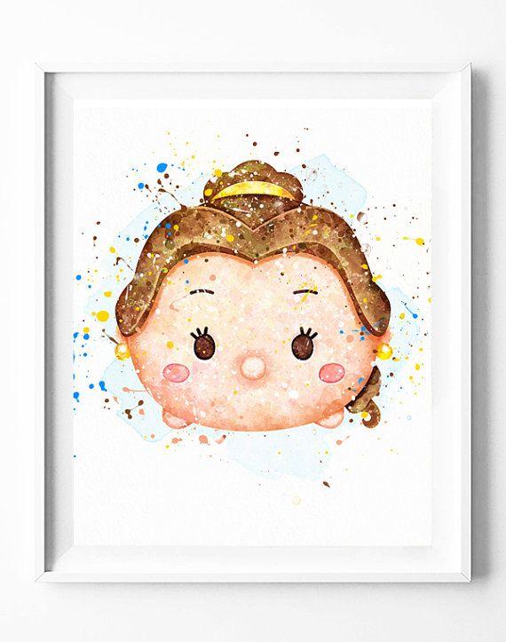 Disney Tsum Tsum belleza y Belle princesa bestia | la bella y la ...