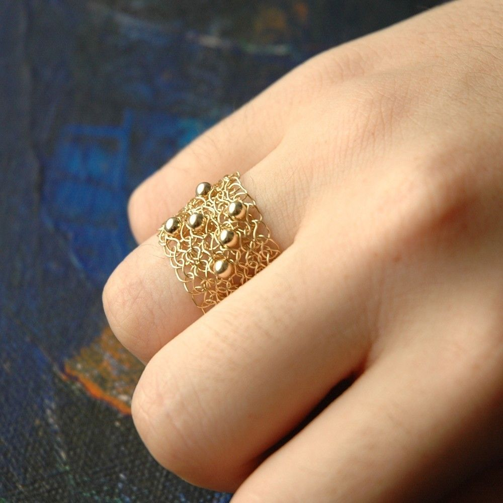 by wedding pin knitted ring lace artanis cushion rings bearer